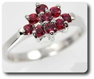 Natural Red Sapphire Ring Silver 925