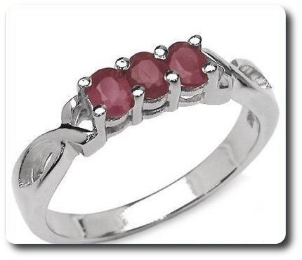 Natural Red Ruby  Ring Silver 925