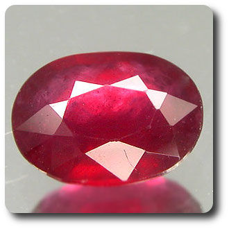 1.50ct  OVAL NATURAL  RED RUBY