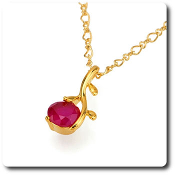 8 mm Red Ruby Pendant
