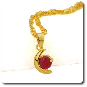 6 mm Red Ruby Pendant