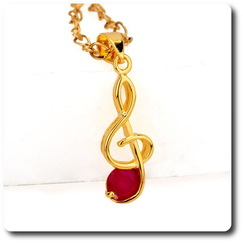 5 mm Red Ruby Pendant