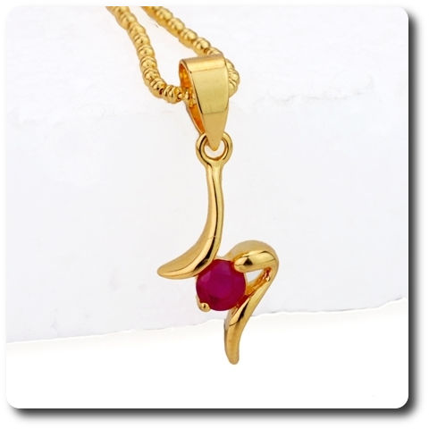 4 mm Red Ruby Pendant