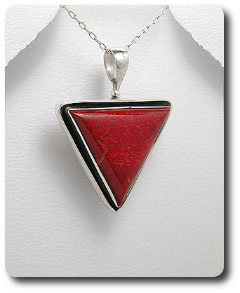 RED CORAL PENDANT