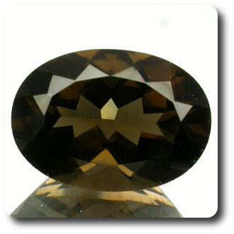 5.30 cts  QUARTZ MARRON FUME. VVS