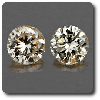 0.04 cts LOT DE 2 DIAMANT CHAMPAGNE. IF