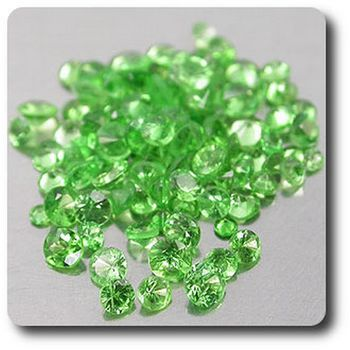 1.19 cts Lot de 98 GRENAT TSAVORITE . VS-SI1