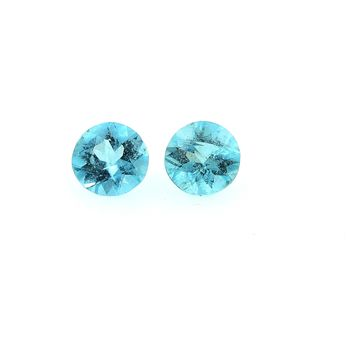 0.34CT. 2 pcs PARAIBA GREEN BLUE APATITE . IF