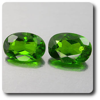1.07 cts LOT DE 2 CHROME DIOPSIDE .SI1