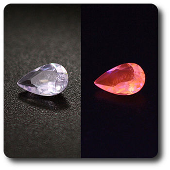 0.17 cts HACKMANITE UV COULEUR CHANGEANTE. VS