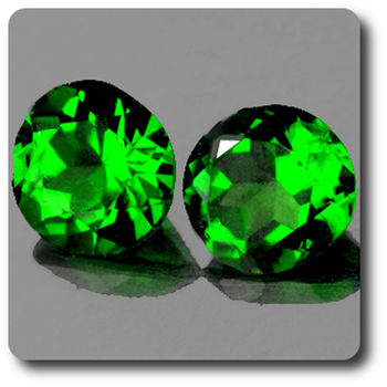 0.54 cts LOT DE 2 CHROME DIOPSIDE . IF
