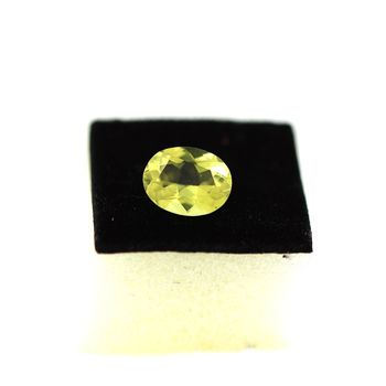 1.48CT. NATURAL YELLOW GREEN QUARTZ. IF