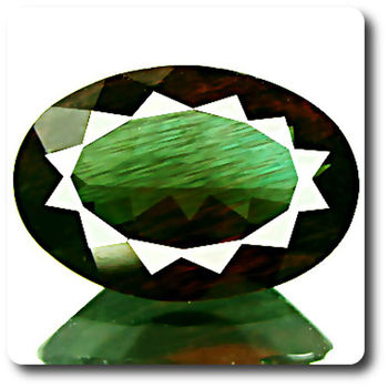 2.34CT. RED GREEN ANDESINE. VVS