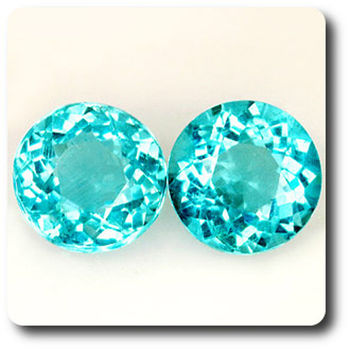 1.36CT. 2 pcs PARAIBA GREEN BLUE APATITE . VS