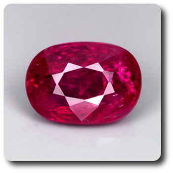 0.79CT.  RED RUBY. Unheated