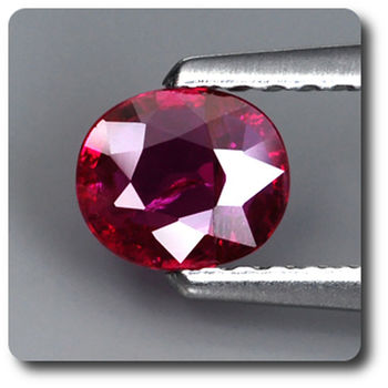 0.54CT.  RED RUBY. Unheated