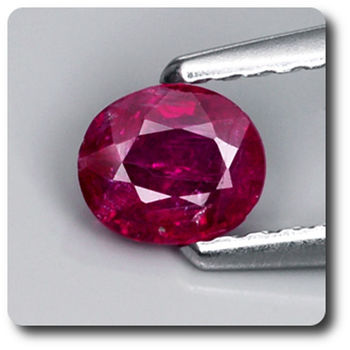 0.51 cts RUBIS ROUGE. NON CHAUFFE