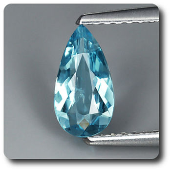0.57CT. NATURAL BLUE AQUAMARINE. VS