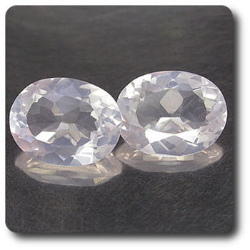 3.14 cts LOT DE 2 QUARTZ ROSE. VS