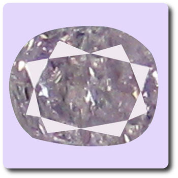 0.04 cts DIAMANT ROSE VIOLET  . I1