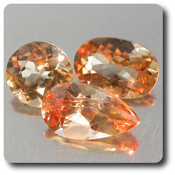 1.05 cts 3 AXINITE COULEUR CHANGEANTE . VS