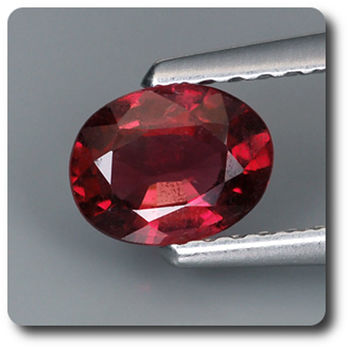 0.63CT.  RED  SPINEL . VS2