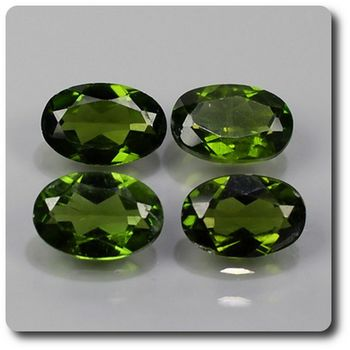 2.82 cts LOT DE 4 CHROME DIOPSIDE