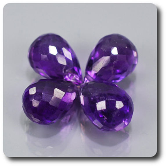 7.04 CT. 4 pcs. PURPLE AMETHYST