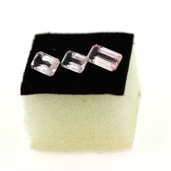 1.65 cts 3 pcs. MORGANITE ROSE