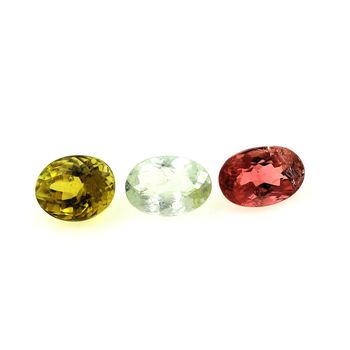 2.46 cts 3 pcs. TOURMALINE MULTICOLORE
