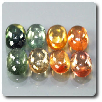3.27 cts 8 pcs. SAPHIR MULTICOLORE