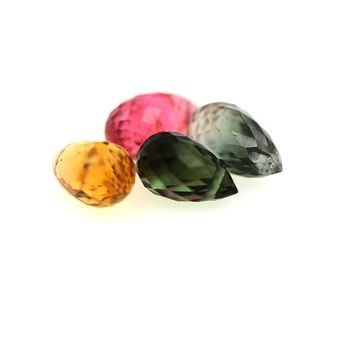3.41 cts 4 pcs. TOURMALINE MULTICOLORE