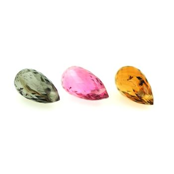 3.02 cts 3 pcs. TOURMALINE MULTICOLORE