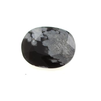 2.17 cts OBSIDIENNE FLOCON DE NEIGE