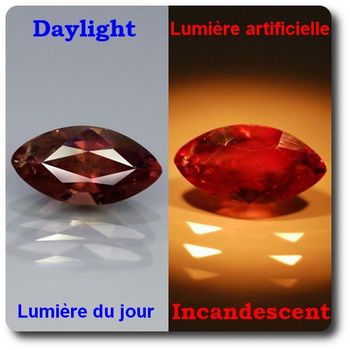 1.50 cts SAPHIR COULEUR CHANGEANTE . VS2