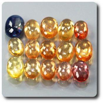 4.20 cts 15 pcs. SAPHIR MULTICOLORE