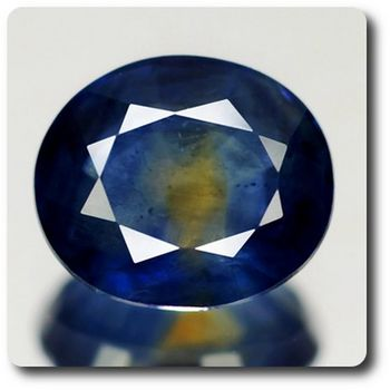 1.27 CT.  BLUE & YELLOW SAPPHIRE. SI1