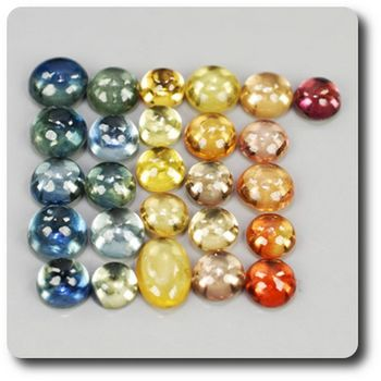 5.01 cts 26 pcs. SAPHIR MULTICOLORE