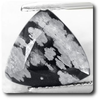 2.80 cts OBSIDIENNE FLOCON DE NEIGE