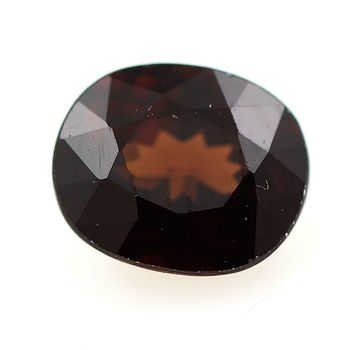 1.24 cts ZIRCON MARRON ORANGE . VVS1