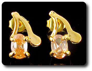 BOUCLES D'OREILLE SAPHIR ORANGE