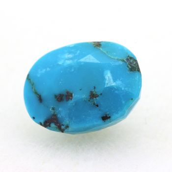 2.74 cts  TURQUOISE BLEU + PYRITE