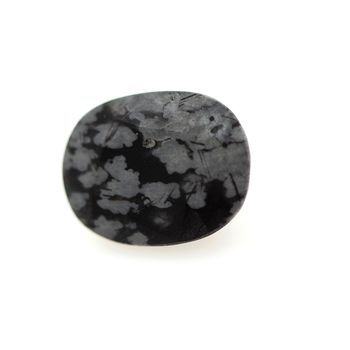 3.15 cts OBSIDIENNE FLOCON DE NEIGE