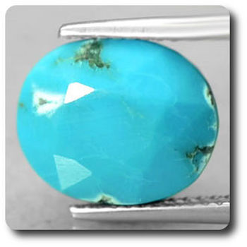 6.53 cts  TURQUOISE BLEU + PYRITE