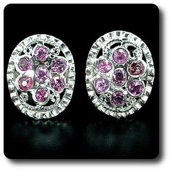 PINK  RHODOLITE GARNET EARRINGS