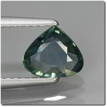 0.78 CT.  BLUE GREEN SAPPHIRE. VS2. UNHEATED
