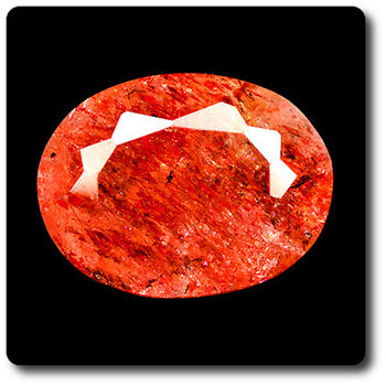 0.94 cts  ANDESINE ROUGE . SI2