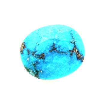 2.53 cts  TURQUOISE BLEU + PYRITE