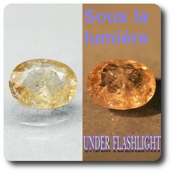 2.72 cts AXINITE (Fe) COULEUR CHANGEANTE . SI1