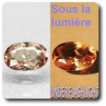 0.96 cts AXINITE (Fe) COULEUR CHANGEANTE . VS1